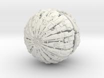 Massive Cyborg Sphere in White Strong & Flexible