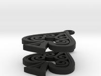 Ace Earrings - Spades in Black Strong & Flexible