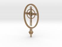 Anglican Cross   in Matte Gold Steel
