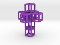 SCULPTURE Cross 48 mm fits the HyperCube in Purple Strong & Flexible Polished