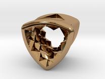 Stretch Diamond 10 By Jielt Gregoire in Polished Brass