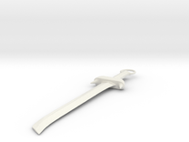 Medieval Sword in White Strong & Flexible