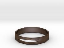 Jonc in Polished Bronze Steel