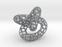 Voronoi knot in Polished Metallic Plastic