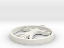 Da Vinci X Man Pendant in White Strong & Flexible