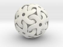 Starball Pendant in White Strong & Flexible