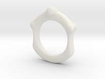 Skull and Bone Ring aprox size 6.5 in White Strong & Flexible