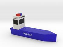 Police Boat in Full Color Sandstone