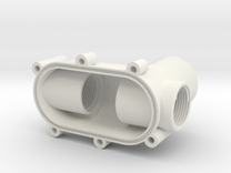 Valve cover, bottom, for cistern, with iso valve in White Strong & Flexible