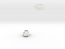 Heptagonal domino corner and edge (print 14) in White Strong & Flexible