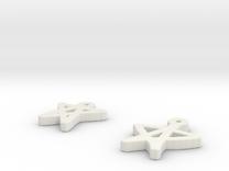 draw-earrings-5.stl in White Strong & Flexible