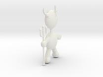 Devil Pendant in White Strong & Flexible