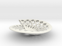 Fruit bowl in White Strong & Flexible