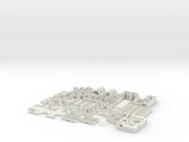 Hollow Mini Mendel Sheet Set in White Strong & Flexible