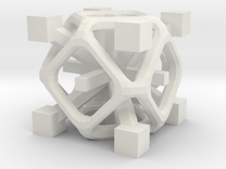 Complex 2-8 cube in White Strong & Flexible