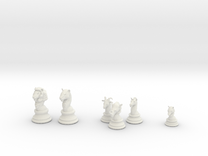 Individual Chess pieces - Animal Kingdom in White Strong & Flexible