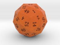 Bright Orange d60 in Full Color Sandstone