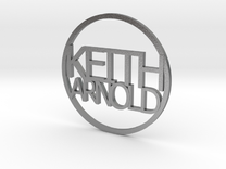 Personalized coin Keith Arnold v3 in Raw Silver