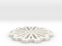 50mm Gear Base in White Strong & Flexible
