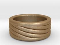 Balance Ring in Matte Gold Steel