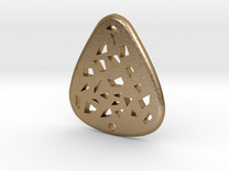 Guitar Pick  in Polished Gold Steel
