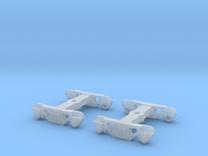 Roller Bearing Trucks for 52' Mill Gondola TT scal in Frosted Ultra Detail
