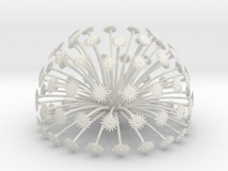 Flowerhead 8 - maximum density in White Strong & Flexible
