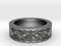 Celtic Design Ring Size 8 in Polished Silver