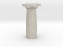Parthenon Column Top (Hollow) 1:200 in Sandstone