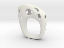 Burnt Ring 5 in White Strong & Flexible
