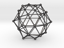 Dodecahedron in Polished Grey Steel