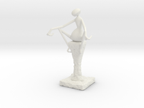 Abstract Figurine in White Strong & Flexible