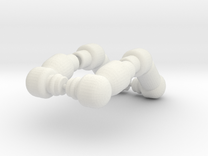 PEGO Arms Bent in White Strong & Flexible