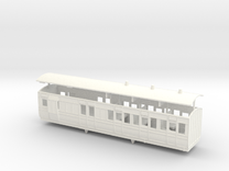 3mm scale LBER Brake Third Class Coach in White Strong & Flexible Polished
