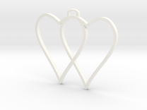 two hearts and top hasp 210911 1751 (fixed) in White Strong & Flexible Polished