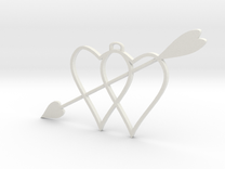 two hearts and top hasp and higher arrow 210911 18 in White Strong & Flexible
