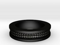Men's Size 10 US Partial Spike Ring in Matte Black Steel