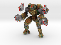 Mech suit with missile pods (10) in Full Color Sandstone
