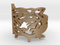 NODE - Tiger Ring -   in Matte Gold Steel
