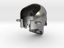 Crâne à la cigarette électronique in Raw Silver