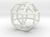 """4"""" rhombicuboctahedron  in White Strong & Flexible"""