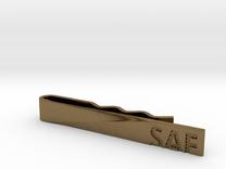 """""""SAF"""" Tie Bar in Raw Bronze"""