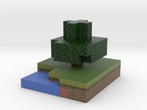 Minecraft tree, summer in Full Color Sandstone