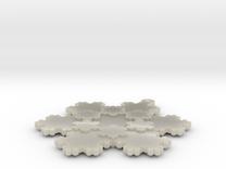 Koch Snowflake - 2 in White Acrylic