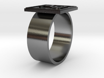 Silver (Ag) Periodic Table Ring in Raw Silver