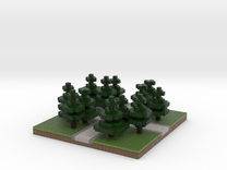 30x30 cross path (Pine trees) (1mm series) in Full Color Sandstone