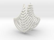 Earing Organic 01 in White Strong & Flexible