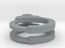 Handcuff Earrings in Polished Metallic Plastic