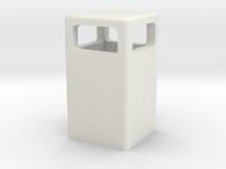 Mülleimer / dustbin (1/87) in White Strong & Flexible