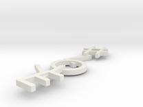 #Hashtag-Earrings - #Love (Single) in White Strong & Flexible